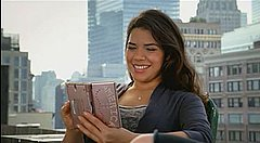 Ugly Betty star America Ferrera, one of many stars around the world signed by Nintendo to promote the DS