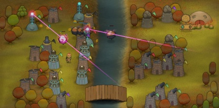 Laser Towers for airborne Monsters... which don't use the bridge!