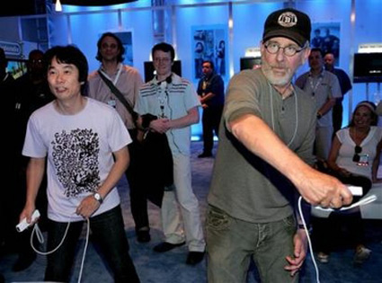 Spielberg also had input (other than production costs) on EA's Wii game Boom Blox